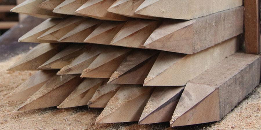 estacas de madera para construcci n